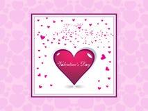 Pequeños corazones y fram rosados Imagenes de archivo