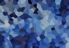 Pequeños cristales azules ilustración del vector