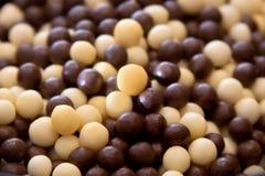 Pequeños descensos del chocolate fotos de archivo libres de regalías