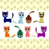 Pequeños gatitos lindos ilustración del vector