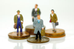 Pequeños hombres de negocios 2 Fotografía de archivo