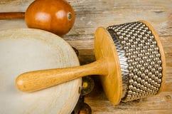 Pequeños instrumentoes de percusión Fotografía de archivo libre de regalías