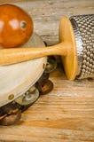 Pequeños instrumentoes de percusión Foto de archivo libre de regalías