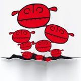 Pequeños invasores (vector) Fotografía de archivo libre de regalías