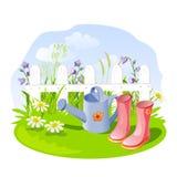 Pequeños jardín y accesorios Foto de archivo libre de regalías