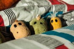 Pequeños juguetes mullidos Fotografía de archivo libre de regalías
