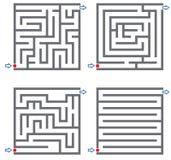 Pequeños laberintos ilustración del vector