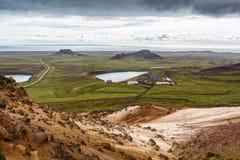 Pequeños lagos en Islandia Foto de archivo