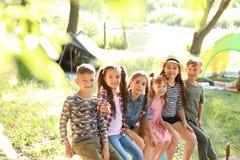 Pequeños niños al aire libre el día soleado Imagenes de archivo