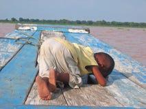 Pequeños niños del khmer Fotografía de archivo