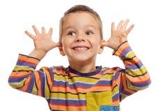 Pequeños niños divertidos imagenes de archivo