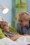 Pequeños paciente y pediatra Fotos de archivo libres de regalías