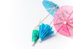 Pequeños paraguas de papel Imágenes de archivo libres de regalías