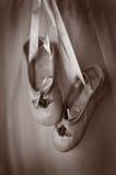Pequeños pares de deslizadores del ballet Fotografía de archivo libre de regalías