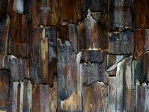 Pequeños pedazos verticales de madera dañada fotografía de archivo libre de regalías
