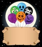 Pequeños pergamino y globos 2 de Halloween Fotos de archivo libres de regalías