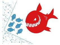 Pequeños pescados en un callejón sin salida Imagen de archivo libre de regalías