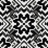 Pequeños polígonos coloreados en un fondo negro Fotografía de archivo