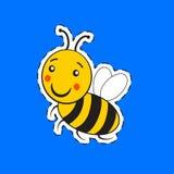 Pequeños rayados lindos de la historieta manosean la abeja Fotos de archivo libres de regalías