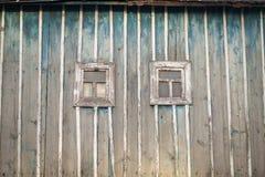 Pequeños windowframes de madera Foto de archivo