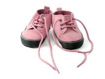 Pequeños zapatos rosados Imagen de archivo libre de regalías