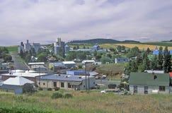 Pequeña ciudad de la granja de la madera del algodón, Idaho Imagen de archivo libre de regalías