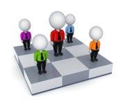 pequeña gente 3d en un tablero de ajedrez. Fotografía de archivo libre de regalías