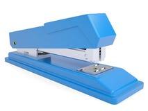 Pequeña grapadora azul Imágenes de archivo libres de regalías