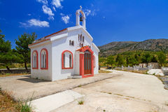 Pequeña iglesia tradicional en Creta Imagen de archivo