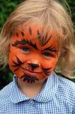Pequeña muchacha del tigre Imagen de archivo