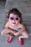 Pequeña muchacha difícil Imagen de archivo