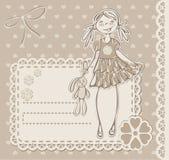 Pequeña muchacha linda Fotografía de archivo libre de regalías
