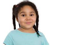 Pequeña muchacha linda del afroamericano Fotografía de archivo libre de regalías