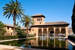 Pequeña piscina en el Alhamabra Imágenes de archivo libres de regalías