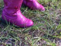 Pequeñas botas rosadas Imagen de archivo libre de regalías