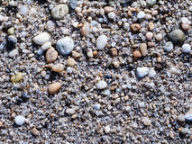 Pequeñas piedras en la playa Fotos de archivo