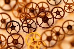 Pequeñas piezas del reloj Foto de archivo libre de regalías
