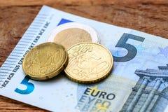 Pequena alteração (dinheiro) Fotografia de Stock Royalty Free