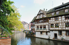 Pequeno área de France em Strasbourg Fotografia de Stock Royalty Free