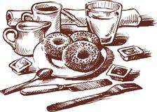 Pequeno almoço ilustração stock