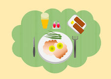 Pequeno almoço Imagem de Stock Royalty Free