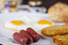 Pequeno almoço americano fotografia de stock