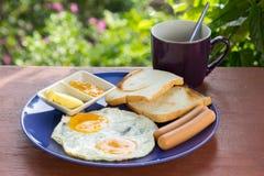 Pequeno almoço americano Fotos de Stock