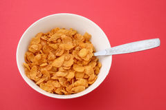 Pequeno almoço claro - cornflakes Imagem de Stock
