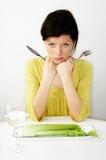 Pequeno almoço com água e aipo Imagem de Stock