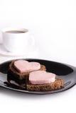 Pequeno almoço com amor Foto de Stock Royalty Free