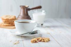 Pequeno almoço com café Fotos de Stock