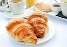 Pequeno almoço com café Imagem de Stock Royalty Free