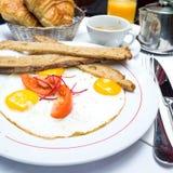 Pequeno almoço com café Imagem de Stock