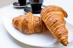 Pequeno almoço com café Fotos de Stock Royalty Free